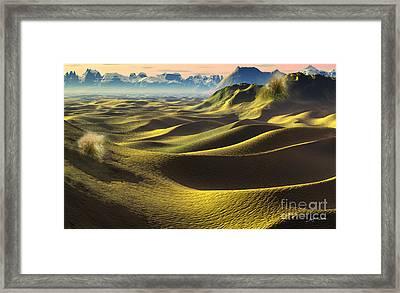 Gobi Desert - Dunes Land Framed Print by Heinz G Mielke