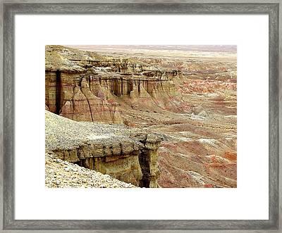 Gobi Desert White Cliffs Framed Print