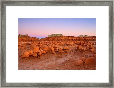 Goblin Glow Framed Print by Mike  Dawson
