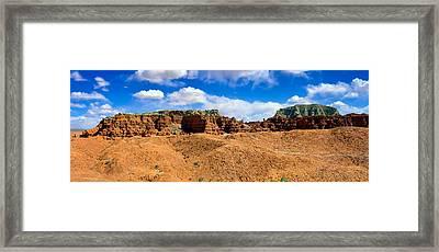 Goblin Valley Pano 3 Framed Print by Tomasz Dziubinski
