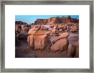 Goblin Valley Rock Formations Framed Print