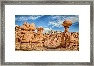 Goblin Valley State Park Framed Print by JR Photography