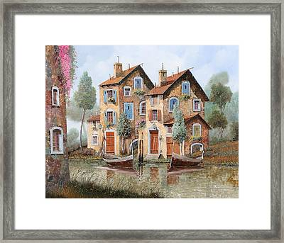 Gocce Sulle Case Framed Print by Guido Borelli