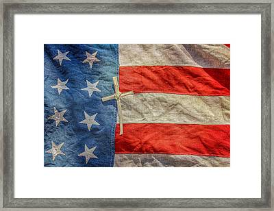 God And Country Framed Print by Randy Steele