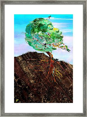 God As Earth Framed Print