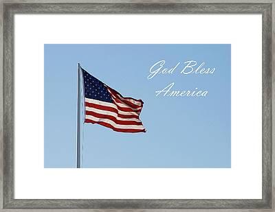 God Bless America Framed Print by Angie Tirado