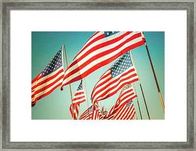God Bless America Framed Print by Debi Bishop