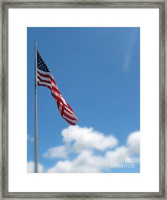 God Bless America Framed Print by Mg Blackstock