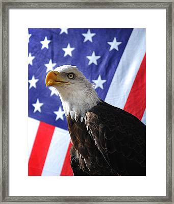 God Bless Our Heros Framed Print