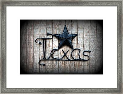 Framed Print featuring the photograph God Bless Texas by Kathy  White