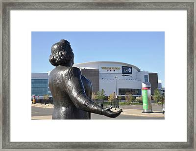 God Bless The Flyers - Kate Smith Framed Print by Bill Cannon