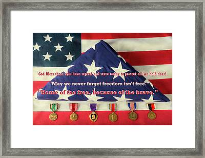 God Bless Those Who Have Served And Serve Today Framed Print
