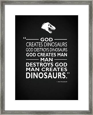 God Creates Dinosaurs Framed Print