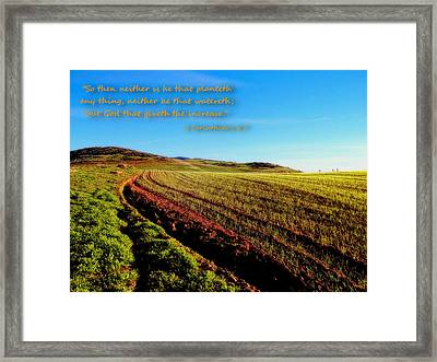 God Gives The Increase Framed Print by Glenn McCarthy