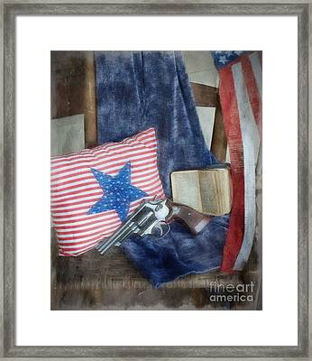 God, Guns And Old Glory Framed Print by Benanne Stiens