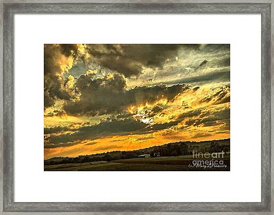 God Hand Framed Print