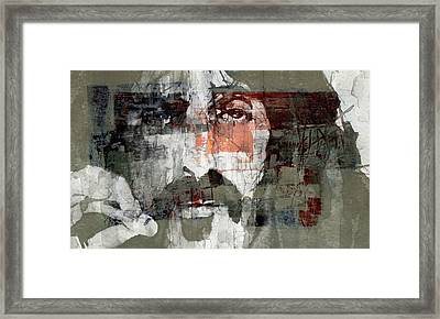 God I Think I'm The American Dream  Framed Print by Paul Lovering