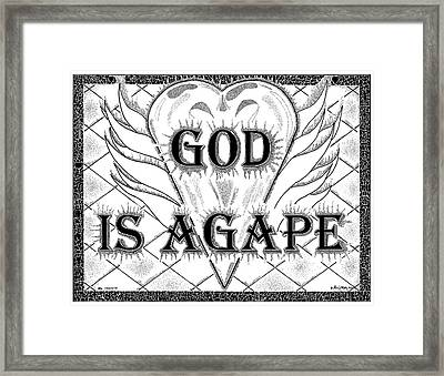 God Is Love - Agape Framed Print