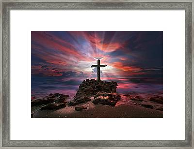 God Is My Rock Special Edition Fine Art Framed Print