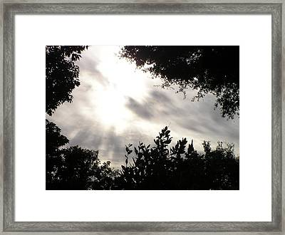 God Is With Us Framed Print by Len Barber