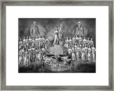 God Liberty And Constitutional Rights Framed Print by War Is Hell Store