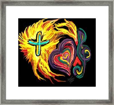 God Love Music Framed Print by Susan Cooke Pena