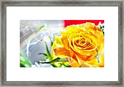 God Love Peace Framed Print