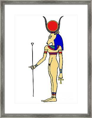 God Of Ancient Egypt - Hathor Framed Print by Michal Boubin
