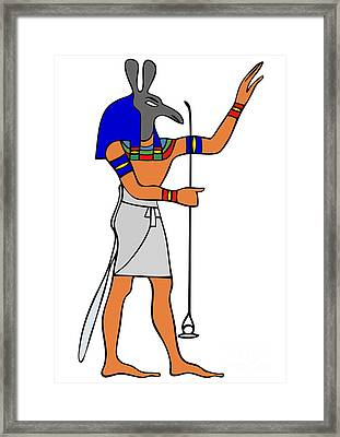 God Of Ancient Egypt - Seth Framed Print by Michal Boubin