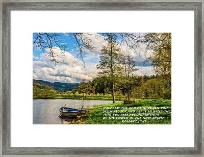 God Of Hope Framed Print
