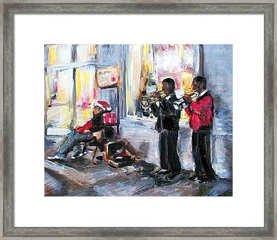 God Rest Ye Merry Gentlemen Framed Print by Sheila Tajima