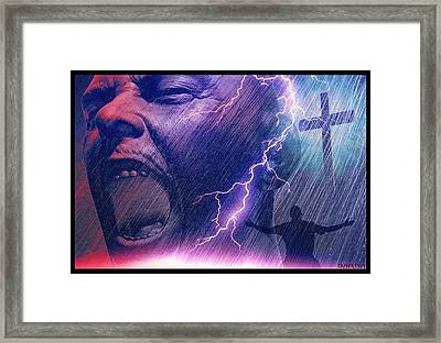 God Save Me Framed Print