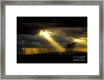 God Speaking Framed Print by Amy Sorvillo
