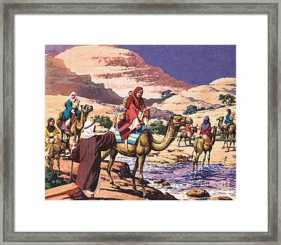 God Speaks At Penuel Framed Print by Pat Nicolle