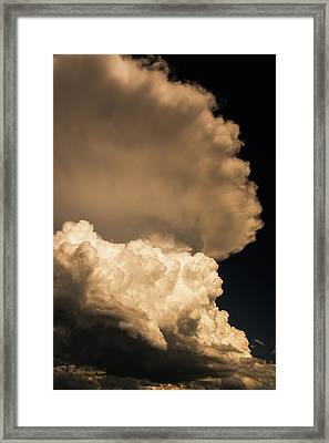 God Speaks In Thunder Framed Print