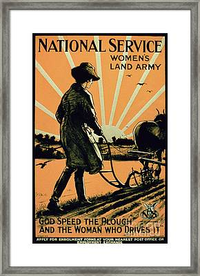 God Speed The Plough And The Woman Who Drives It Framed Print
