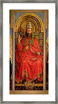 God The Father Framed Print by Hubert and Jan Van Eyck