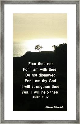 God Will Help You Framed Print by Doreen Whitelock