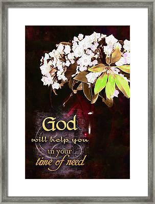 God Will Help You Framed Print by Michelle Greene Wheeler