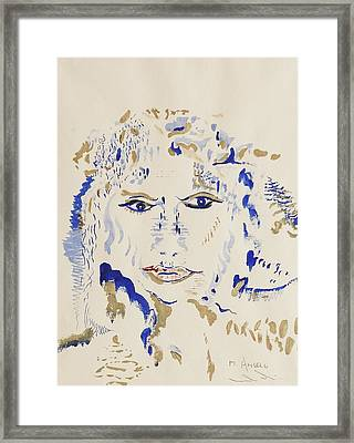 God Without Makeup Framed Print by Contemporary Michael Angelo