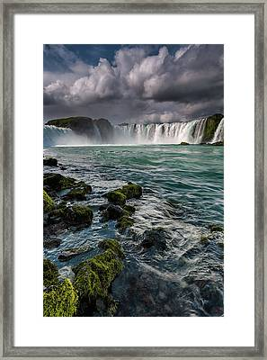 Godafoss Framed Print by Claire Walsh