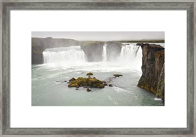 Framed Print featuring the photograph Godafoss by Joe Bonita