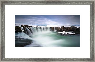 Godafoss Framed Print by Tor-Ivar Naess