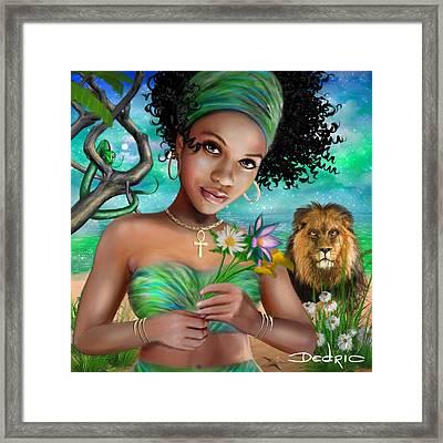Goddess Bastet Framed Print
