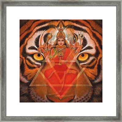 Goddess Durga Framed Print by Sue Halstenberg