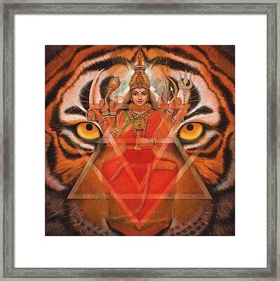 Goddess Durga Framed Print by Sue Halstenberg
