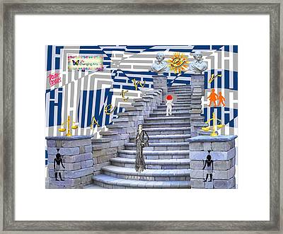 Goddess Enters Framed Print