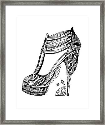 Goddess Isis High Heel Framed Print by Kenal Louis