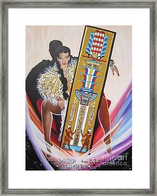 The  Tet Of Osiris Fra Blaa  Kattproduksjoner  Framed Print