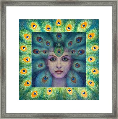 Goddess Isis Visions Framed Print by Sue Halstenberg